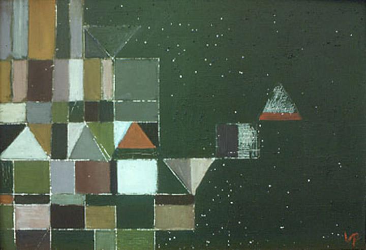 Square Motif Green & Lilac, 1948 - Victor Pasmore