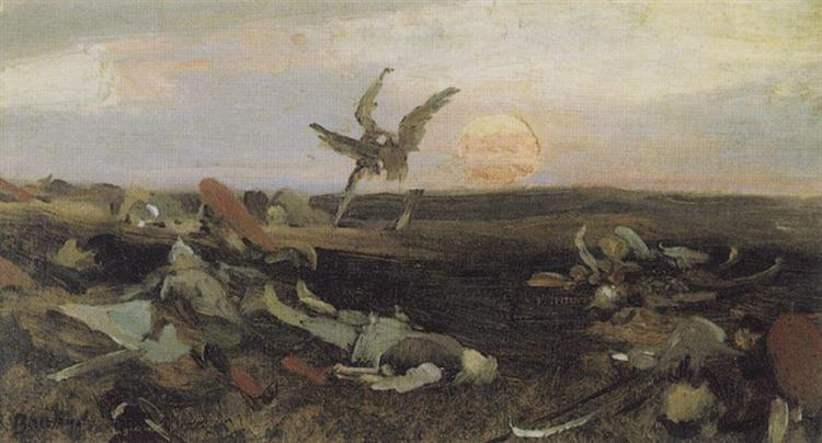 After the carnage Igor Svyatoslavich with Polovtsy (sketch), 1878 - Viktor Vasnetsov