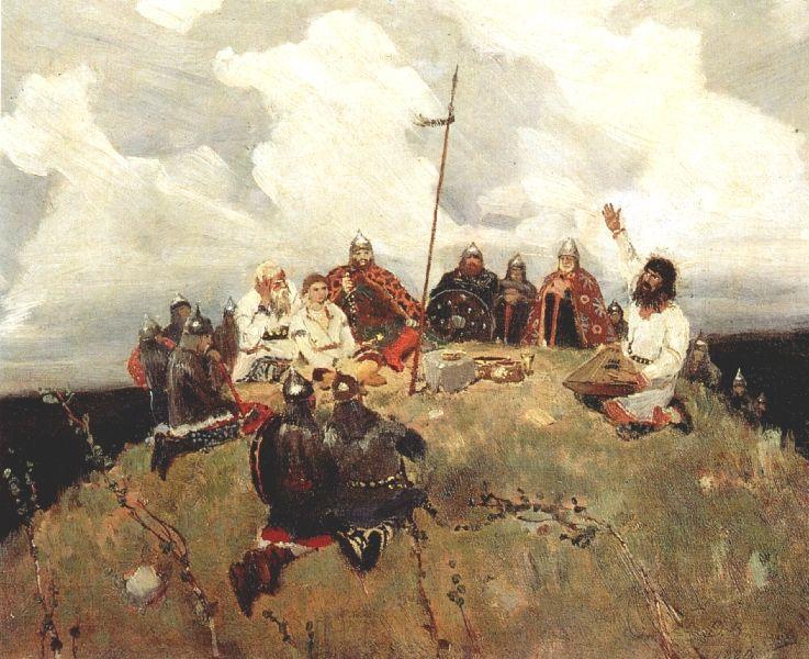 Bayan (sketch), 1880 - Viktor Vasnetsov
