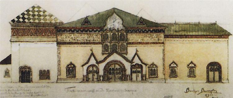 Draft facade Tretyakov Gallery, 1900 - Viktor Vasnetsov