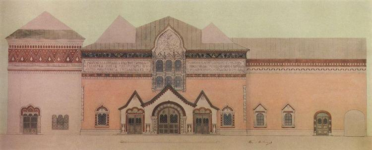 Draft facade Tretyakov Gallery, 1904 - Viktor Vasnetsov