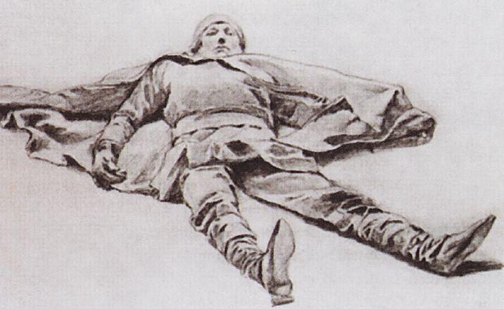 Fallen Knight, 1879 - Viktor Vasnetsov