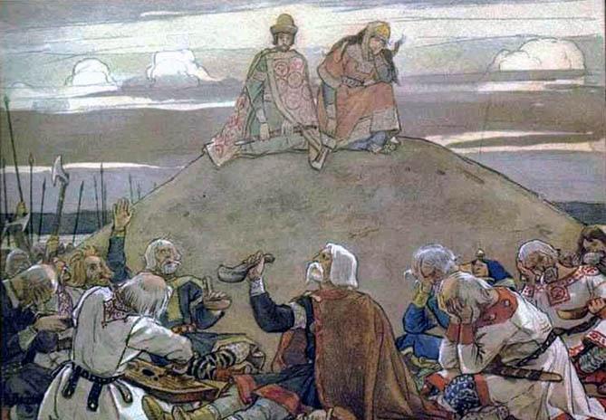 Funeral Feast for Oleg, 1899 - Viktor Vasnetsov