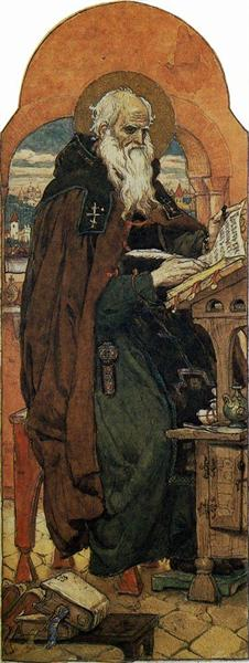 Nestor the Chronicler, 1885 - 1893 - Viktor Vasnetsov