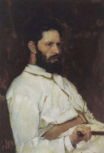 Portrait of sculptor Mark Matveevitch Antokolsky, 1884 - Viktor Vasnetsov