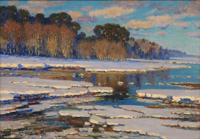 Melting Snow 1910 Vilhelms Purvitis Wikiart Org