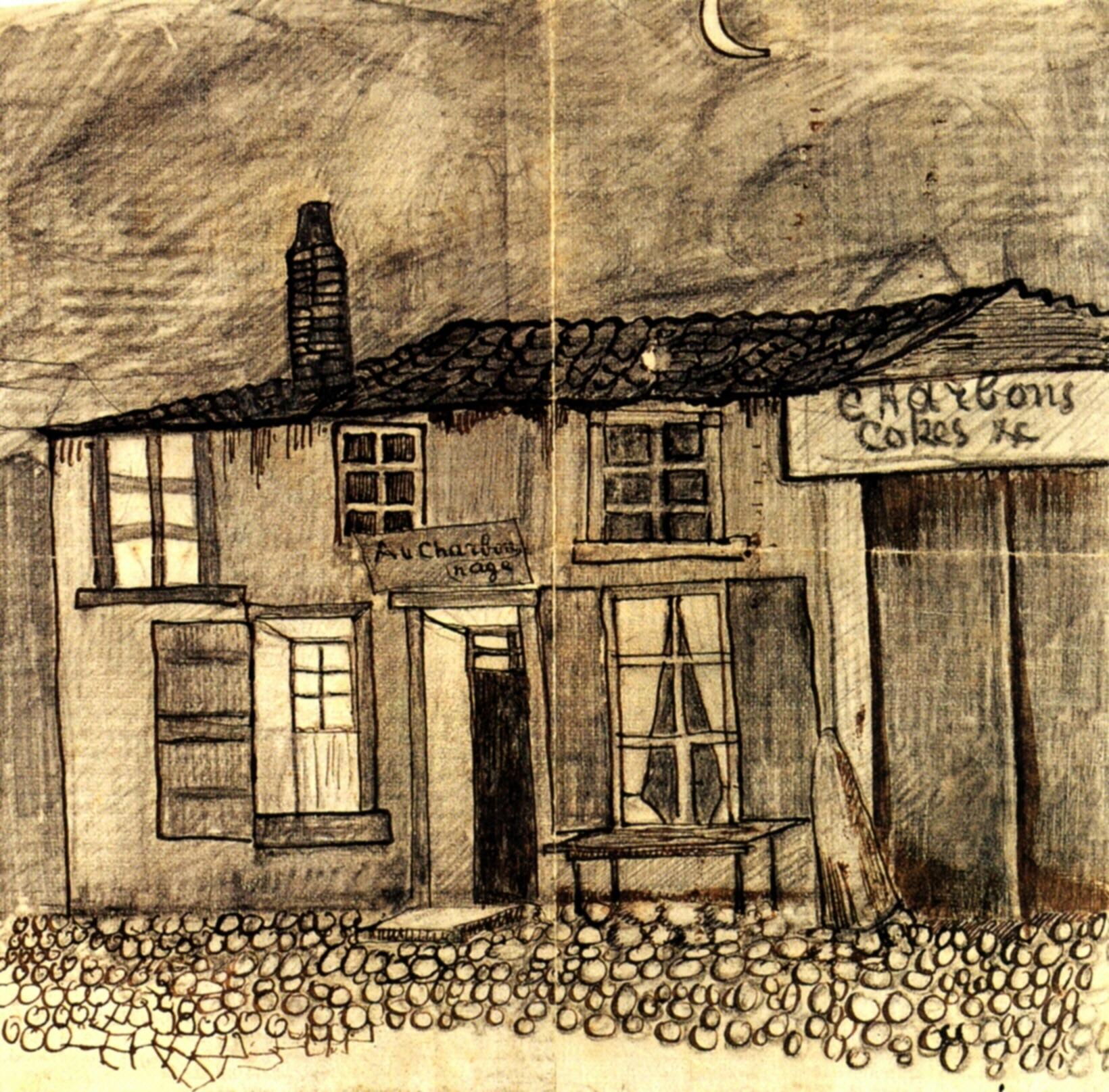 """""""Au Charbonnage"""" Café, 1878"""