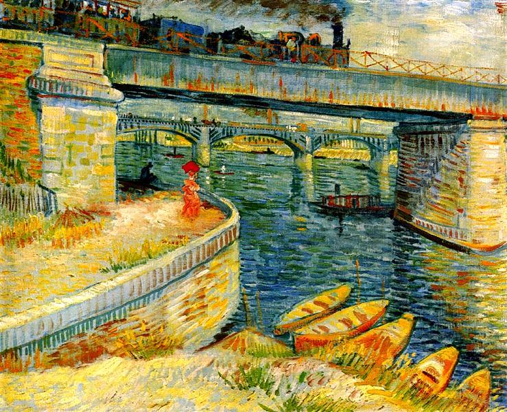 Bridges across the Seine at Asnieres, 1887 - Vincent van Gogh