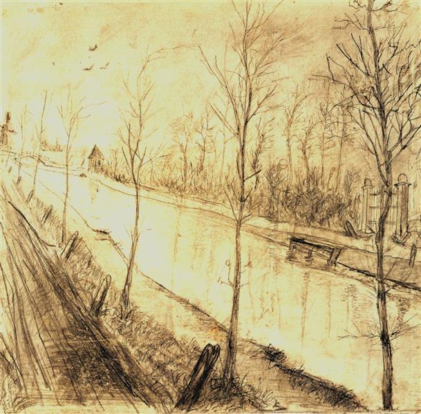 Canal, 1873 - Vincent van Gogh