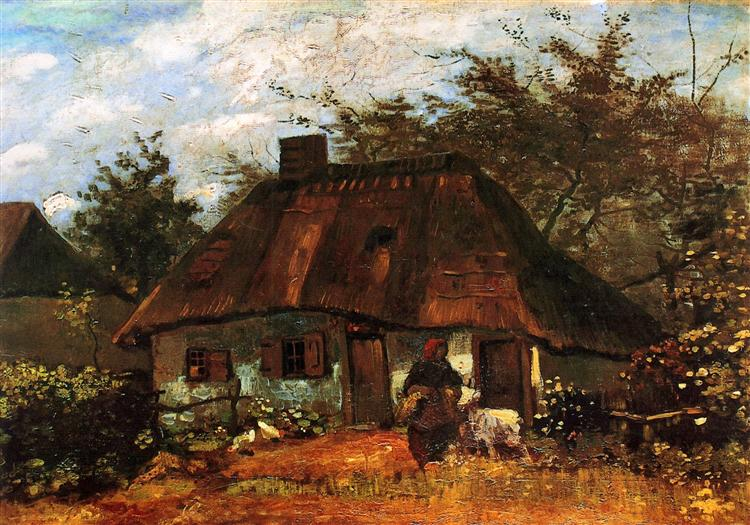 Cottage and Woman with Goat, 1885 - Vincent van Gogh