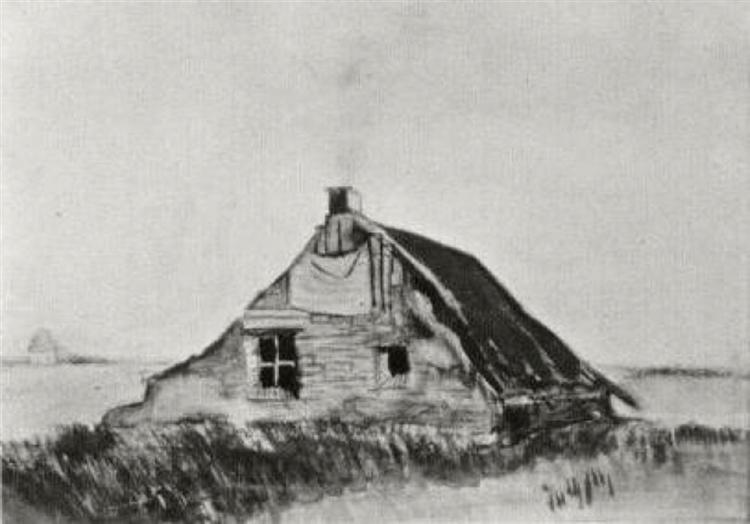 Farmhouse 1883 Vincent Van Gogh Wikiart Org