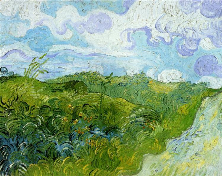 Green Wheat Fields, 1890 - Vincent van Gogh