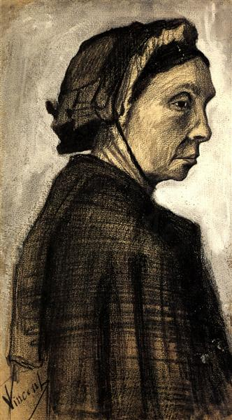 Head of a Woman, c.1883 - Vincent van Gogh