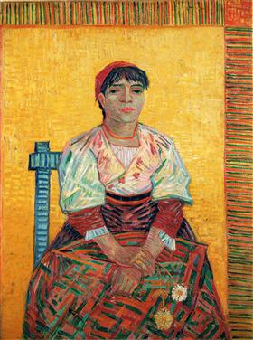 Mujer italiana (Agostina Segatori), Vincent van Gogh
