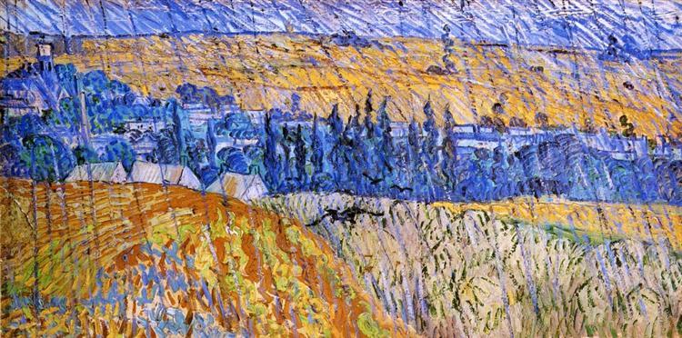Landscape in the Rain, 1890 - Vincent van Gogh