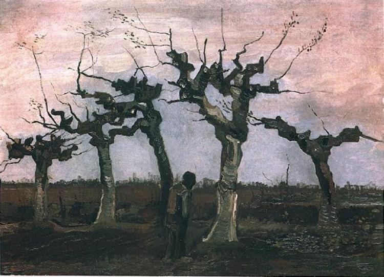 Landscape with Pollard Willows, 1884 - Vincent van Gogh