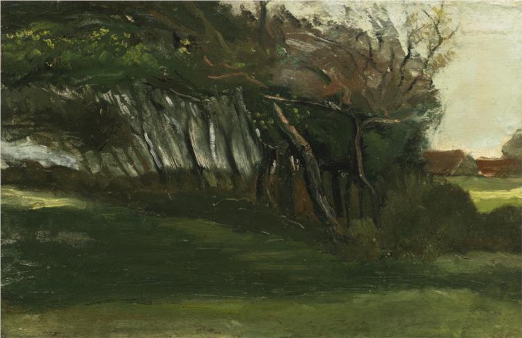 Landscape with windswept trees, c.1883 - 1884 - Vincent van Gogh