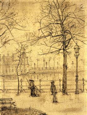 Lange Vijverberg, La Haya, Vincent van Gogh