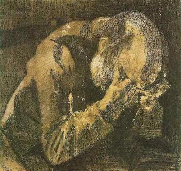 Man with his head in his hands, 1882 - Vincent van Gogh
