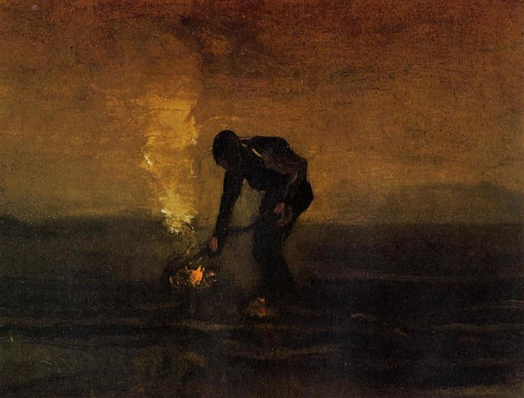 Peasant Burning Weeds, 1883 - Vincent van Gogh