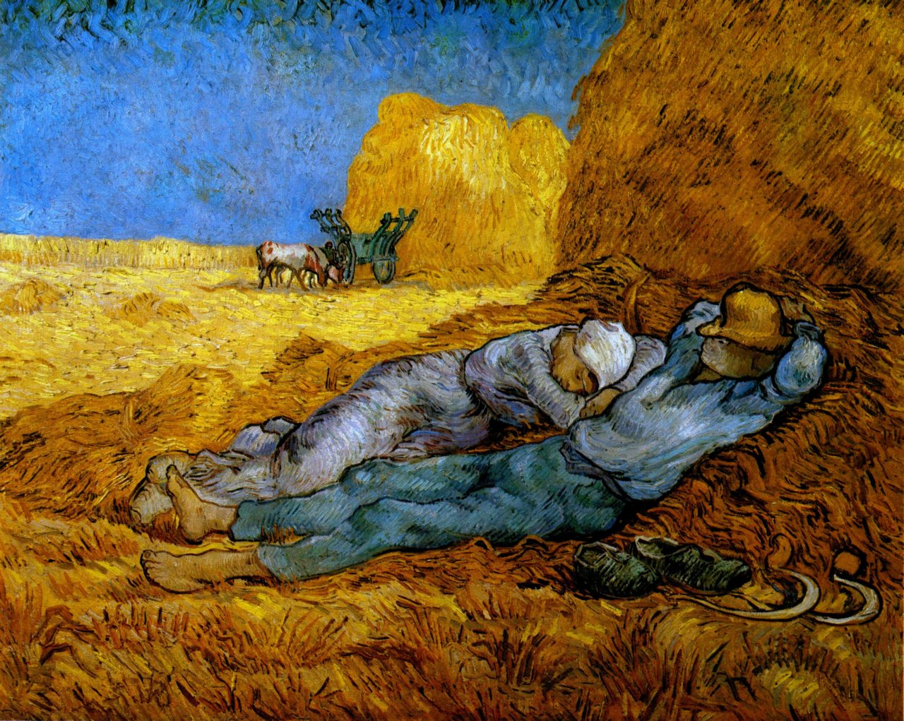 Rest work after millet 1890 vincent van gogh for Van gogh paintings locations