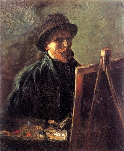 Self-Portrait with Dark Felt Hat at the Easel, 1886 - Vincent van Gogh