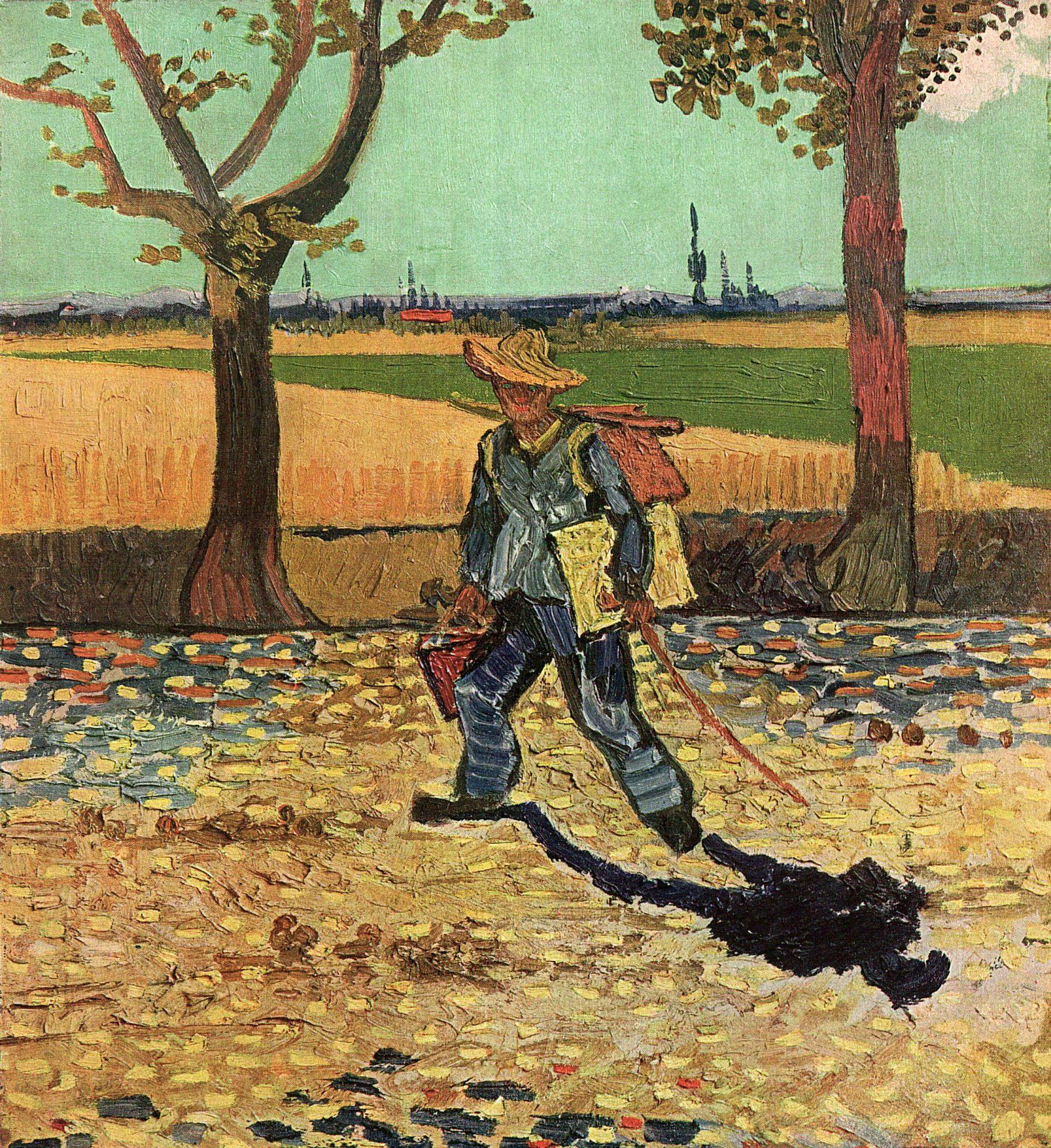 Resultado de imagen de van gogh the painter on the tarascon road 1888