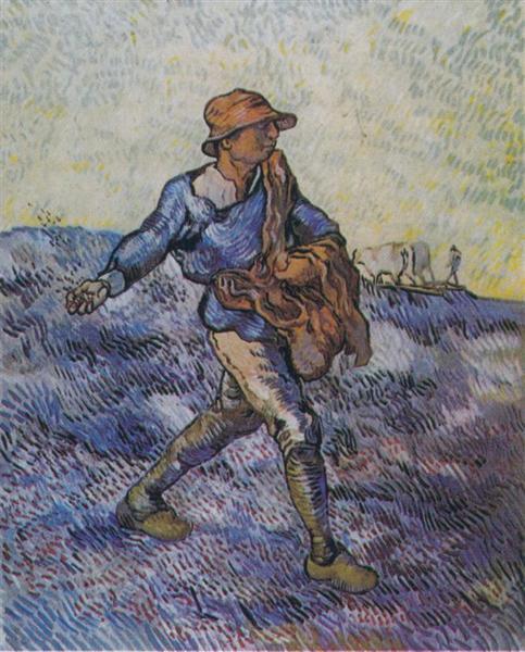 The Sower (after Millet), 1889 - Vincent van Gogh