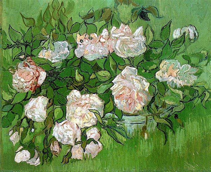 Still Life - Pink Roses, 1890 - Vincent van Gogh