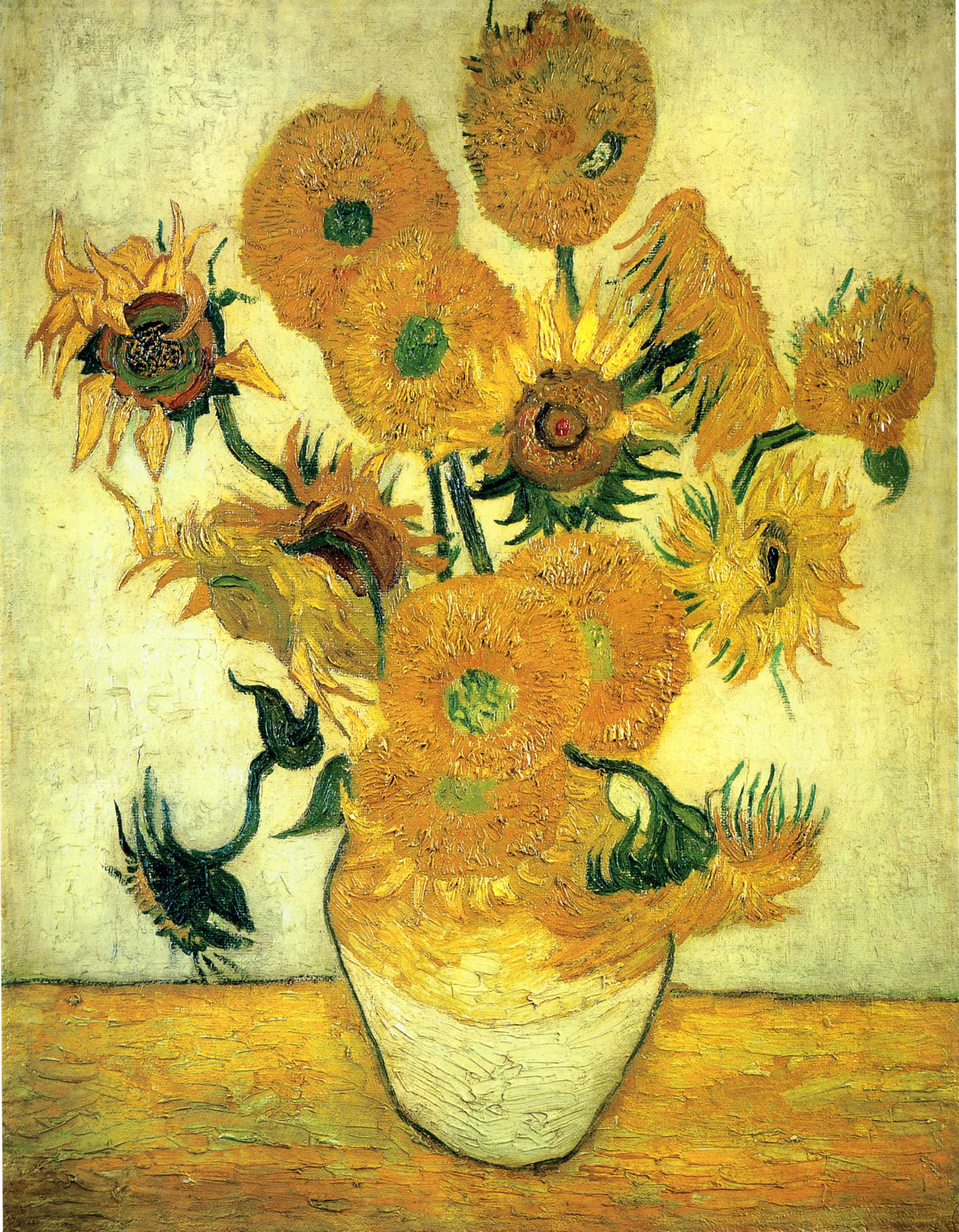 Still life vase with fourteen sunflowers 1889 vincent van still life vase with fourteen sunflowers 1889 vincent van gogh reviewsmspy