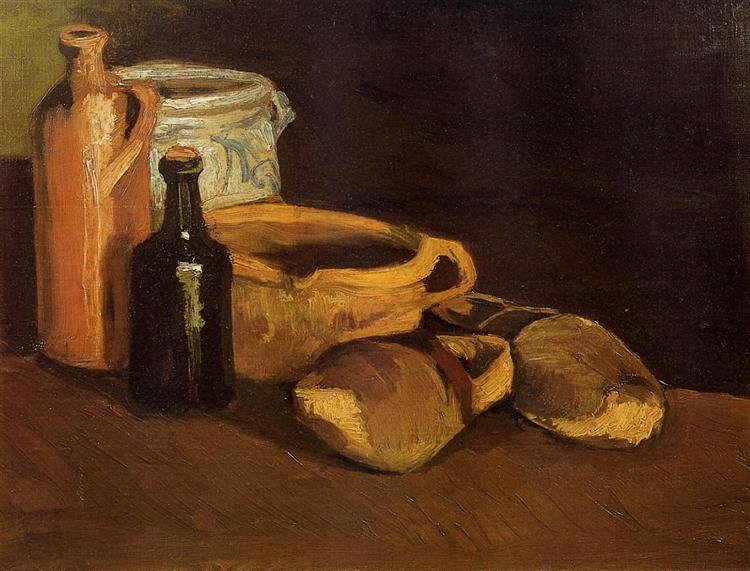 still life with clogs and pots 1884 vincent van gogh. Black Bedroom Furniture Sets. Home Design Ideas