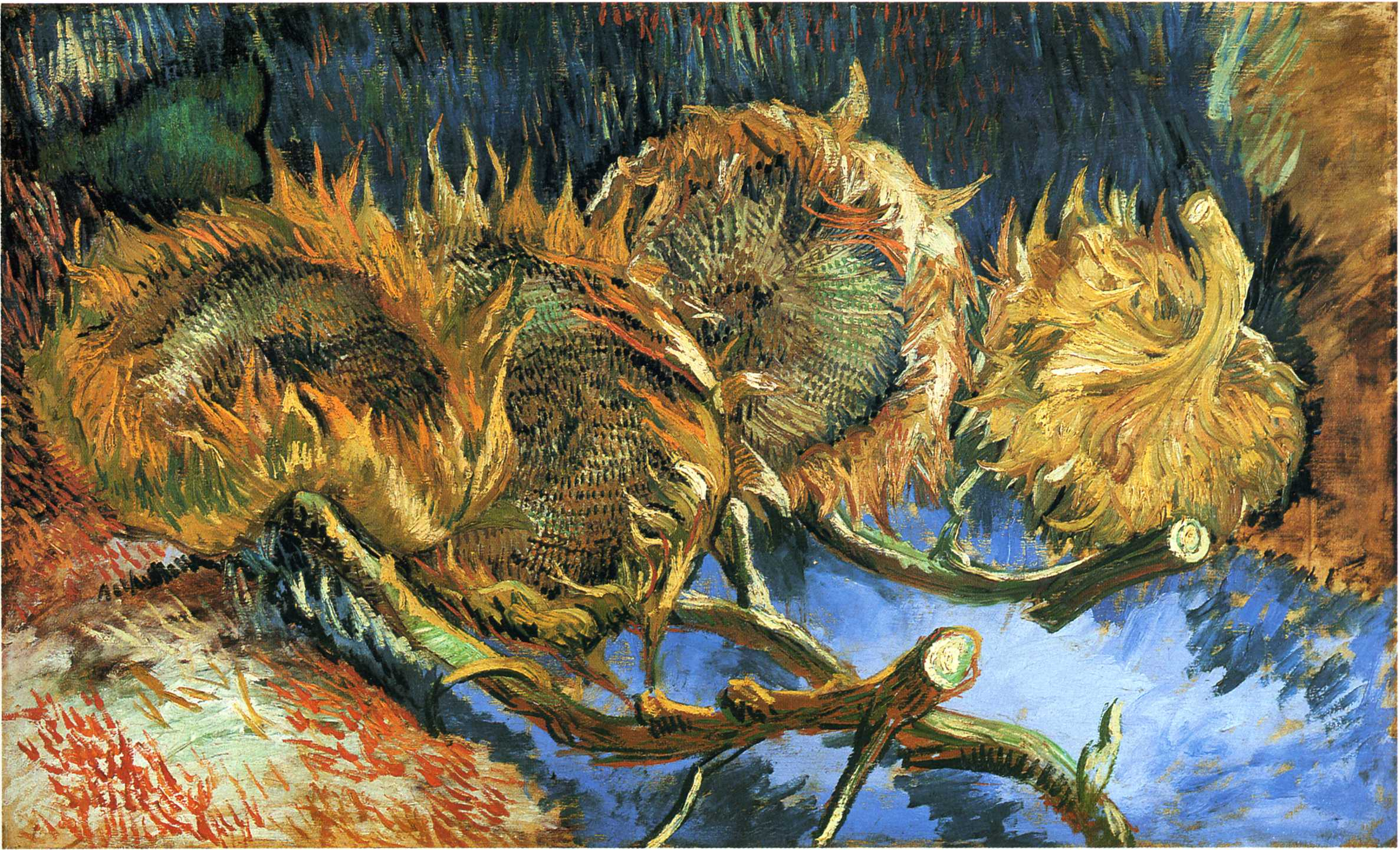still life with four sunflowers 1887 vincent van gogh. Black Bedroom Furniture Sets. Home Design Ideas