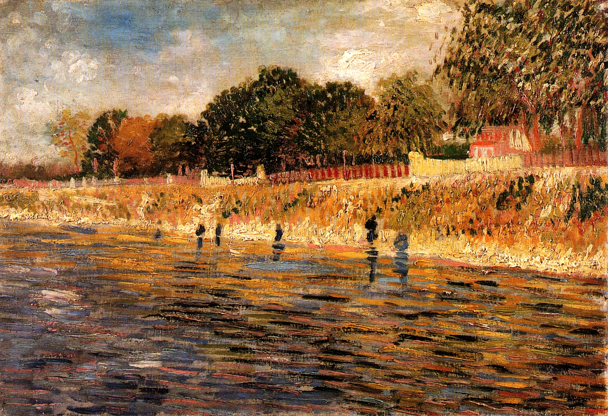 The banks of the seine 1887 vincent van gogh for Van gogh paintings locations