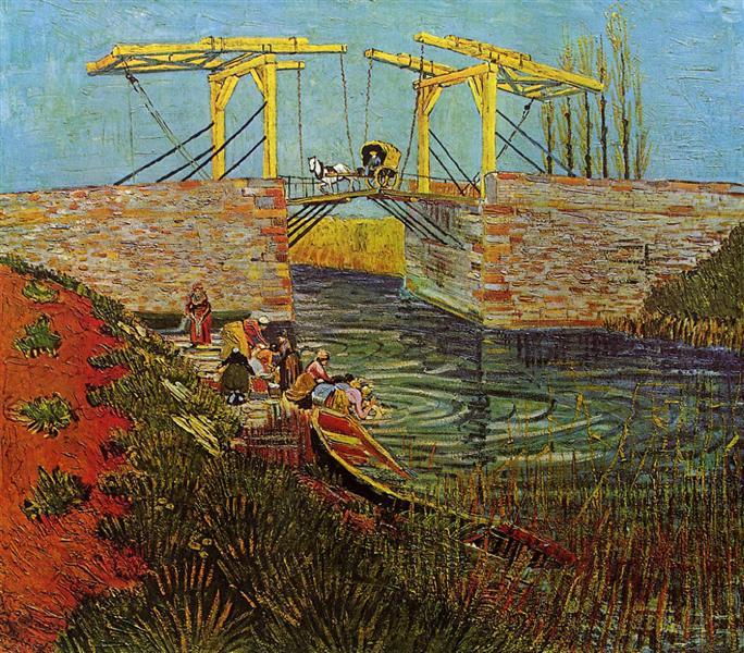 The Langlois Bridge at Arles, 1888 - Vincent van Gogh