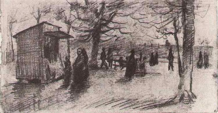 The Terrace of the Tuileries with People Walking, 1886 - Vincent van Gogh