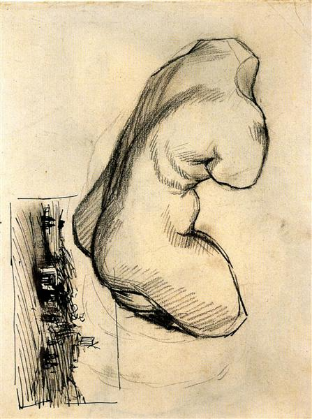 Torso of Venus and a Landscape - van Gogh Vincent