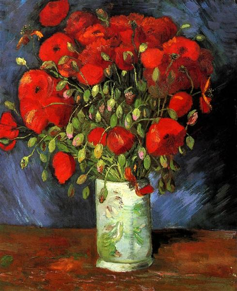 Vase with Red Poppies, 1886 - Vincent van Gogh