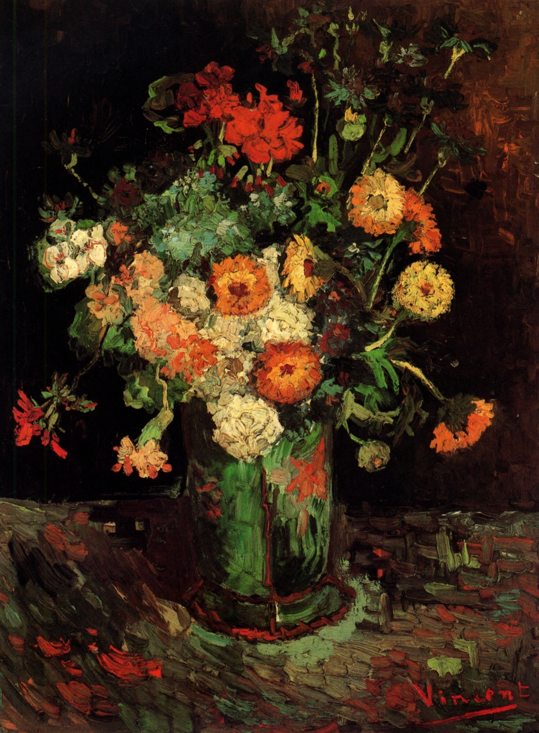 Poppy Flower Painting Vincent Van Gogh Comousar