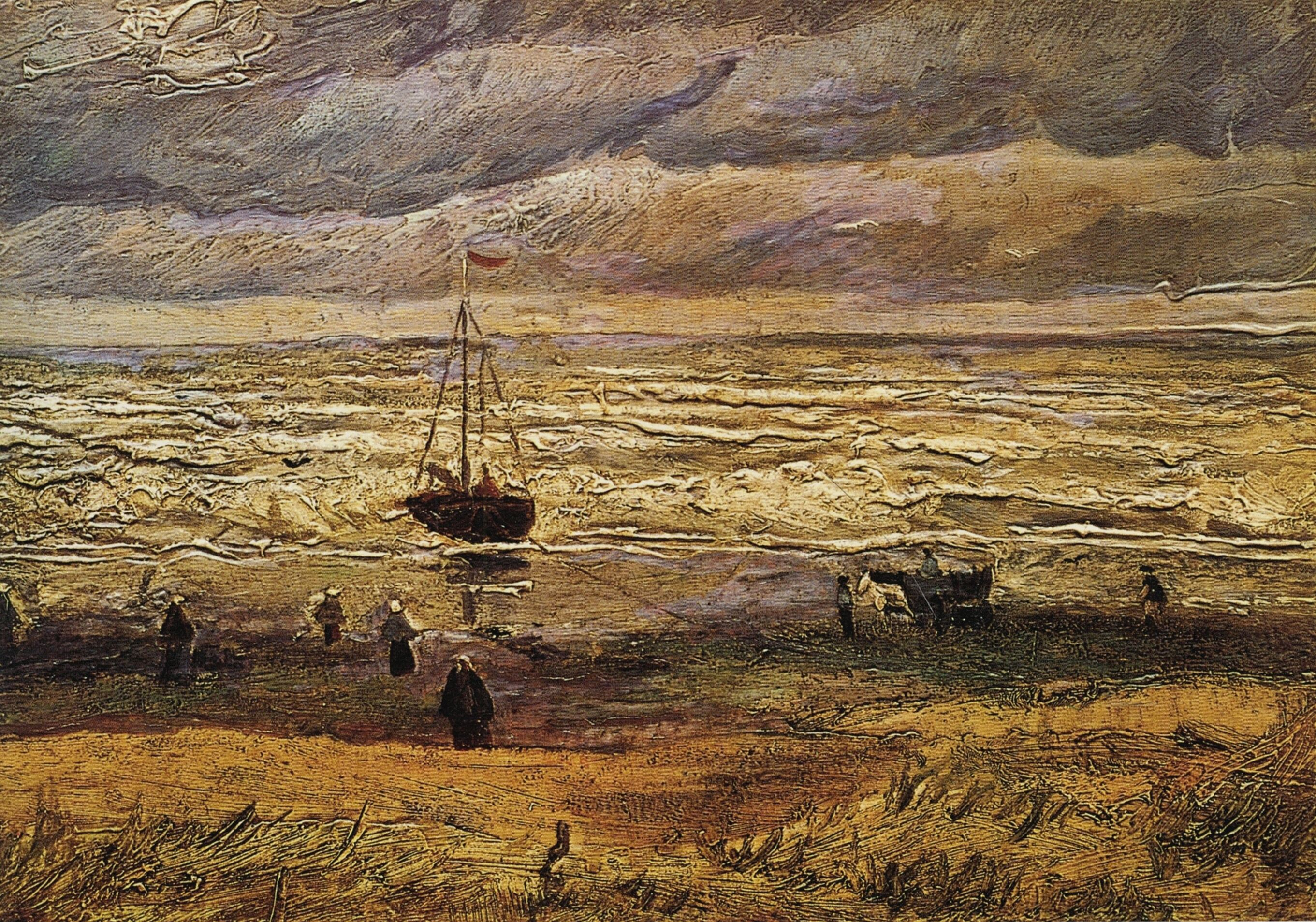 Resultado de imagem para view of the sea at scheveningen by vincent van gogh