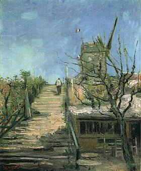 Molino de viento en Montmartre, Vincent van Gogh
