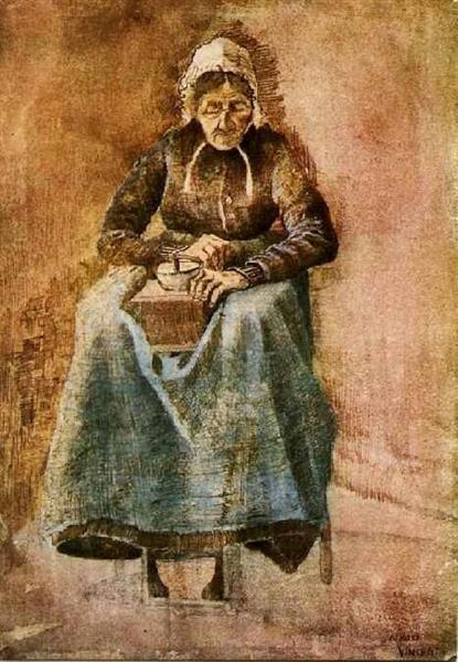 Woman Grinding Coffee, 1881 - Vincent van Gogh