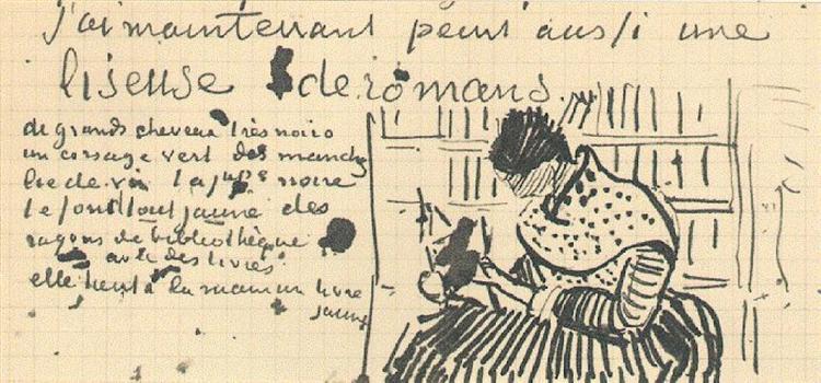 Woman Reading a Novel, 1888 - Vincent van Gogh - WikiArt.org