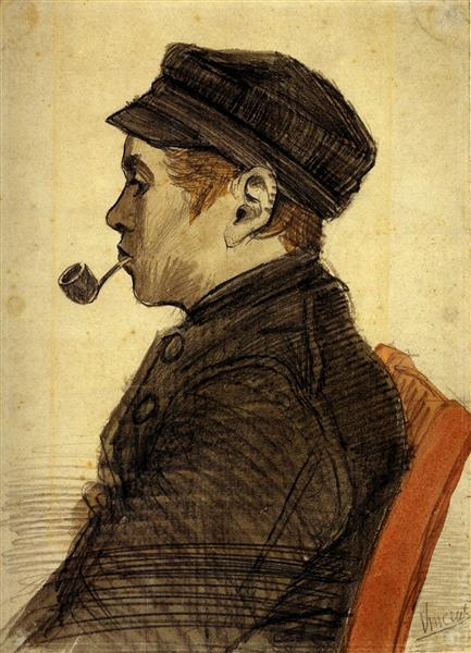 Young Man with a Pipe, 1884 - Vincent van Gogh
