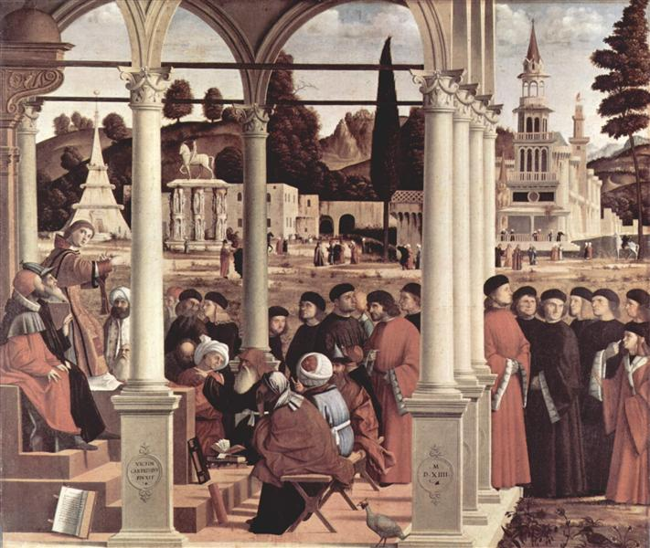 Debate of St. Stephen, 1514 - Vittore Carpaccio