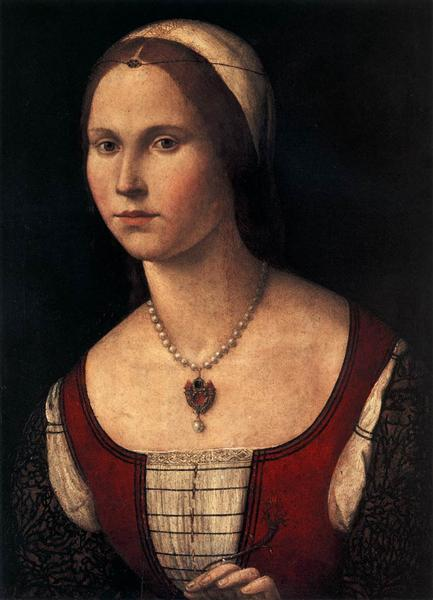 Portrait of a Young Woman, c.1510 - Vittore Carpaccio