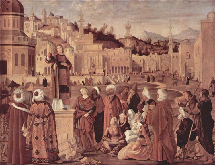 St. Stephen Preaching, 1514 - Vittore Carpaccio