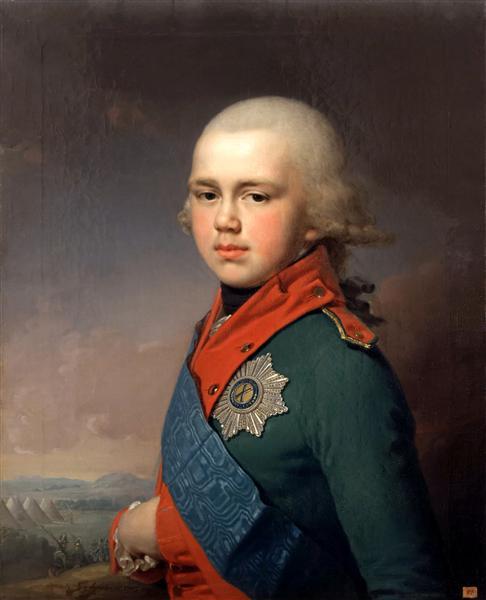 Портрет Великого князя Константина Павловича, 1795 - Владимир Боровиковский
