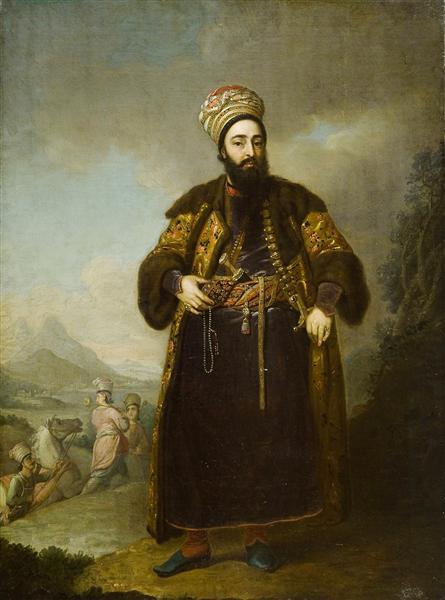 Portrait of Murtaza Kuli Khan, brother of Aga Mahommed, the Persian Shah, 1796 - Vladímir Borovikovski