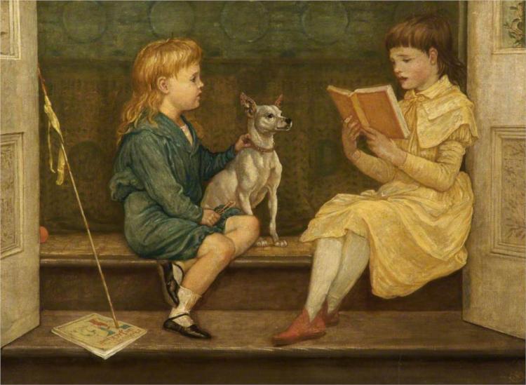 Beatrice and Lionel Crane, 1880 - Walter Crane