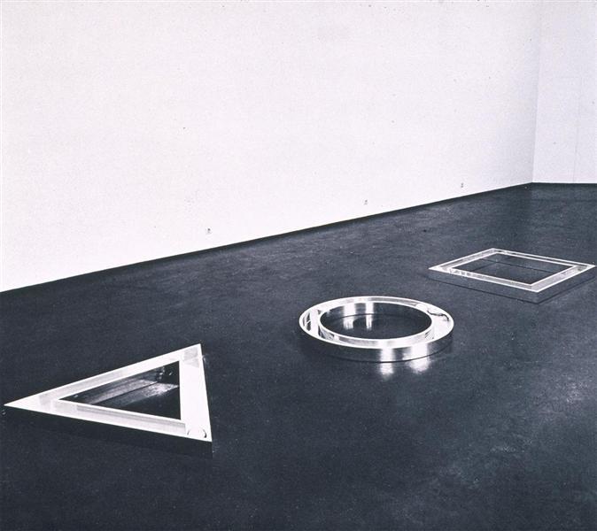 Triangle, Circle, Square, 1972 - Уолтер Де Марія